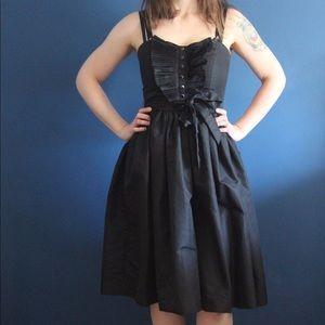 Black taffeta tuxedo party dress